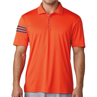 Adidas Mens ClimaCool 3 Stripes Club Crestable Polo Shirt