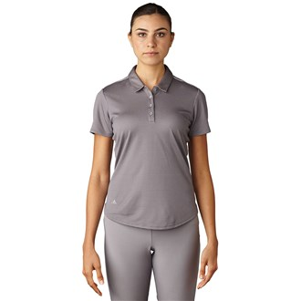 adidas ladies microdot short sleeve polo shirt