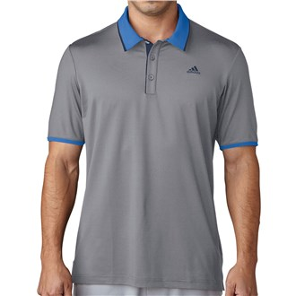 adidas mens climacool performance polo shirt (logo on chest)