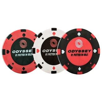 Odyssey poker chip ball markers (3 pack) van kantoor artikelen tip.