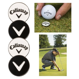 callaway metal ball marker (4 pack)