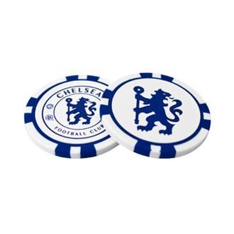 Chelsea poker chip ball marker set