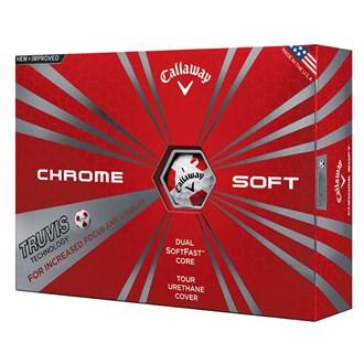 callaway chrome soft truvis balls (12 balls)