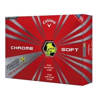 callaway chrome soft truvis yellow balls (12 balls)