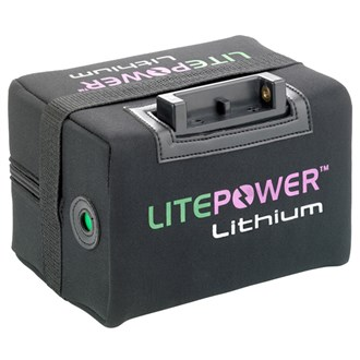 Litepower 22ah extended 36 hole lithium battery & charger