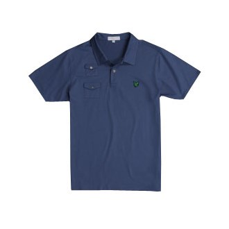 Lyle And Scott Mens Green Eagle Thin Pocket Polo Shirt