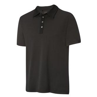 Adidas mens adipure knit woven polo shirt