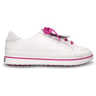 Crocs Ladies Braydn Golf Shoes WhiteFuchsia