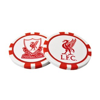 Liverpool poker chip ball marker set