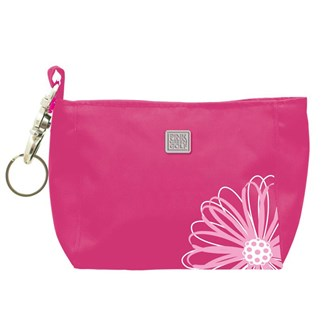 Flower embroidered hand bag