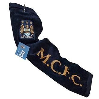 Manchester city football club tri fold towel
