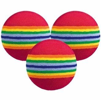 foam multi coloured practice balls (6 balls)