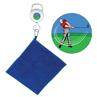 golfer retractable towel