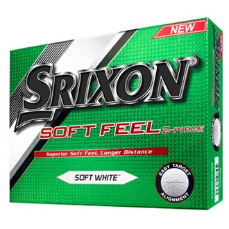srixon soft feel white balls (12 balls) 2016