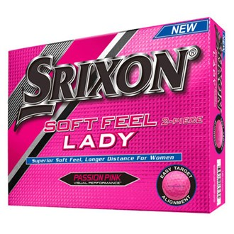 srixon ladies soft feel pink balls (12 balls) 2016