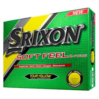 srixon soft feel yellow balls (12 balls) 2016