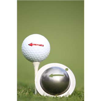 Tin Cup Ball Marker  One Way