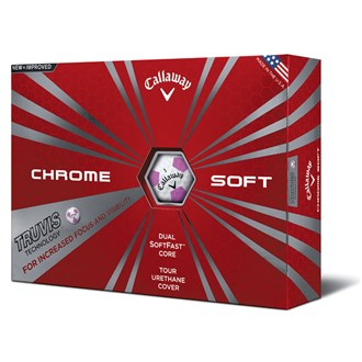 callaway chrome soft truvis pink balls (12 balls)