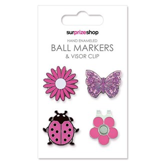 ball marker and visor clip set