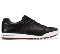 Ecco Mens Street Golf Shoes (Moonless/Black/Chilli Red)