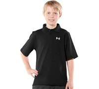 Under Armour Boys Performance Polo Shirt (Black)