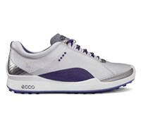 Ecco Ladies Biom Hybrid Golf Shoes (White/Purple)