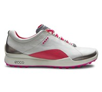 Ecco Ladies Biom Hybrid Golf Shoes (White/Pink)