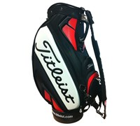 Titleist 10.5 Inch Tour Vinyl Staff Bag 2014 (Black/White/Red)
