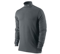 Nike Mens Dri Fit Jersey Turtle Neck Shirt (Dark Grey)