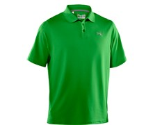 Under Armour Mens HeatGear Performance Polo Shirt 2013 (Tree Frog/Concrete)