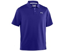 Under Armour Mens HeatGear Performance Polo Shirt 2013 (Caspian/White)