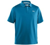 Under Armour Mens HeatGear Performance Polo Shirt 2013 (Snorkel/Black)