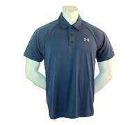 Under Armour Mens HeatGear GTO Print Polo Shirt (Indigo/Blue)