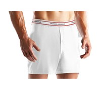Under Armour Mens HeatGear O Series Boxer Short (White)