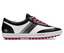 Ecco Ladies Golf Street Hydromax Shoes 2013 (Black/White/Candy)