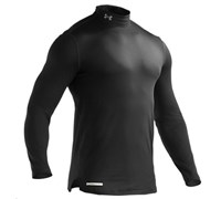 Under Armour Mens ColdGear Fitted Long Sleeve Baselayer 2014 (Black)