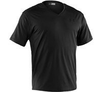 Under Armour Mens Relaxed V-Neck Polo (Black/Steel)