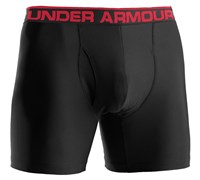 Under Armour Mens The Original 6 Inch Boxer Jock 2014 (Black/Red)
