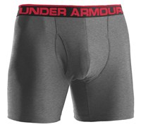 Under Armour Mens The Original 6 Inch Boxer Jock 2014 (Grey/Red)