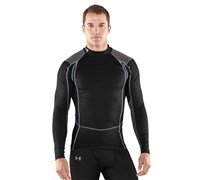 Under Armour Mens ColdGear Thermo Wind Block Baselayer (Black/Charcoal/Steel)
