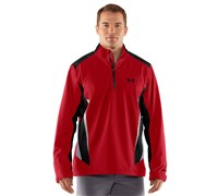 Under Armour Mens Storm 2.0 1/4 Zip Waterproof Jacket (Red/Black)