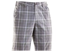 Under Armour Mens Forged Plaid Golf Shorts 2013 (Graphite/White-Black)