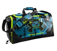 Under Armour Hustle MD Duffel (Blue/Black)