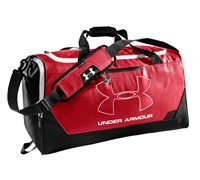 Under Armour Hustle MD Duffel (Red/Black/White)