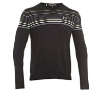 Under Armour Mens V-Neck Stripe Sweater 2013 (Black/ Carbon heather)