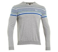 Under Armour Mens V-Neck Stripe Sweater 2013 (Grey Heather/Moonshadow)