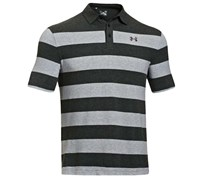 Under Armour Mens Charged Cotton Yarn Dye Polo Shirt 2014 (Carbon Heather/Charcoal)