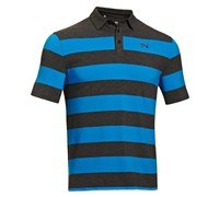 Under Armour Mens Charged Cotton Yarn Dye Polo Shirt 2014 (Carbon Heather/Blue)