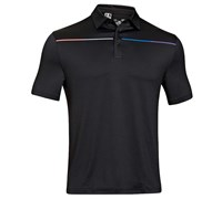 Under Armour Mens ColdBlack Chest Stripe Polo Shirt 2014 (Black)