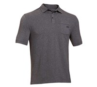 Under Armour Mens Charged Cotton Pocket Polo Shirt 2014 (Carbon Heather)